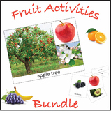 Fruit Activities Bundle for Early Education and Montessori Environments