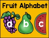 Fruit Alphabet-Upper and Lower Case