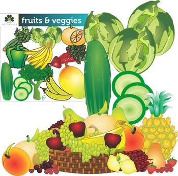 Fruit And Vegetable Clip Art Bundle