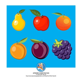 Fruit (Apple, Orange, Peach, Pear, Plum, Mulberry)