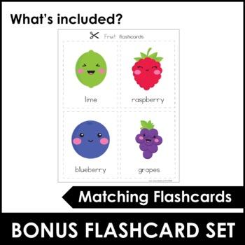 Fruit Bingo Game and Vocabulary Flashcards