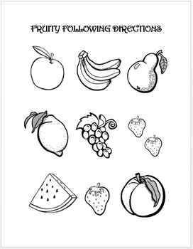 Fruit Basic Concept Following Directions