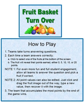 Fruit Basket Turn Over (A PowerPoint Game Template)