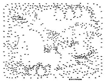 Fruit Bat (Flying Fox) Extreme Dot-to-Dot / Connect the Dots PDF