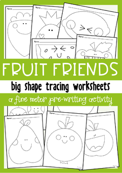 Fruit Big Shape Tracing {Prewriting Activity}