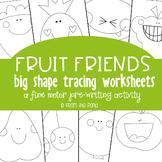 Fruit Big Shape Tracing {Prewriting Activity}