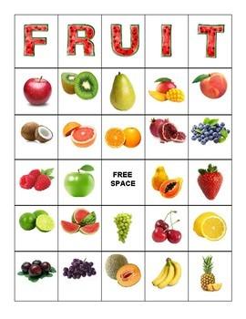 Fruit Bingo - 30 Cards