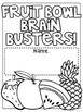 Fruit Bowl Brain Busters: Math Logic Problems for Grades 3 and Up!