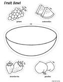 Fruit Bowl Coloring Worksheet