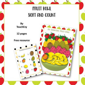 Fruit Bowl Sort and Count Free Resource