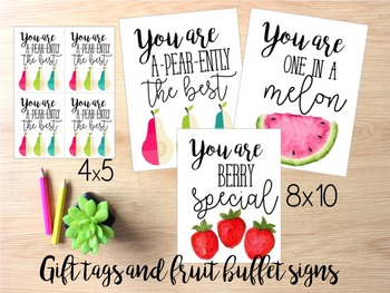 Fruit Buffet or Gift Tags