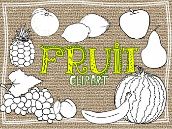 Fruit CLIPART high resolution (for personal and commercial use)