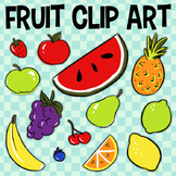 Fruit Clip Art, Food Pyramid, Pineapple, Banana, Strawberry, Red Apple, Grapes