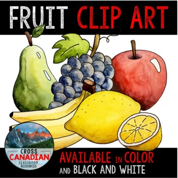 Fruit Clip Art- Hand Painted Watercolor Food Images!