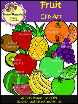 Fruit Clip Art (School Designhcf)