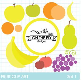 Fruit Clip Art Set 1