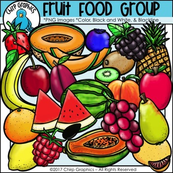 Fruit Food Group Clip Art Set - Chirp Graphics
