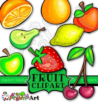 Fruit Clip Art Set - Oranges Apples Pears