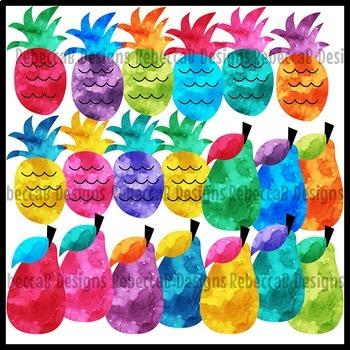 Watercolor Fruit Clip Art