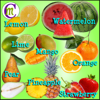 Fruit Clip Art with Cross Sections CM Photo Clipart