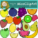 Fruit Clipart (Color and B&W) {MissClipArt}