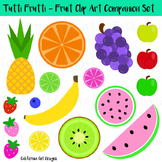 Fruit Clipart Set - Watermelons, Apples, Banana, Pineapple