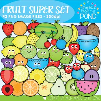 Fruit Clipart Super Set