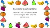Fruit/veggie color sorting
