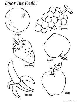 Fruit Coloring Worksheet