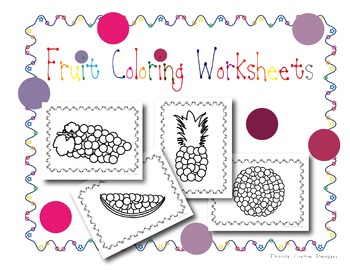 [FREE] Fruit Coloring & Pom Pom Pasting Worksheets (Mosaic Art)