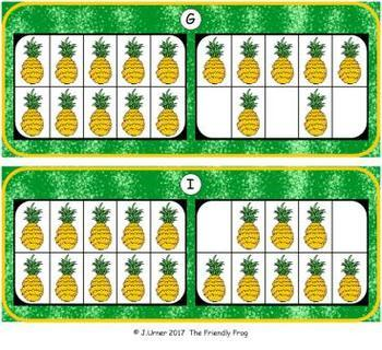 Fruit Count, Add & Subtract Bundle with 10 & 20 Frames {Subitizing}