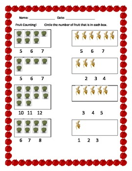 Fruit Counting!