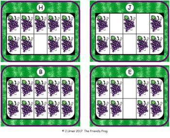 Fruit Counting, Addition & Subtraction with Ten Frames {Subitizing}