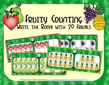 Fruit Counting with 20 Frames {Subitizing}