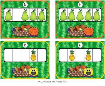 Fruit Counting with 5 Frames {Subitizing}