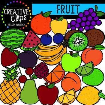 Fruit {Creative Clips Digital Clipart}