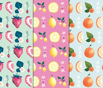 Fruit Digital Papers, Background Paper, Fruit Crush, Fruit Scrapbook Paper