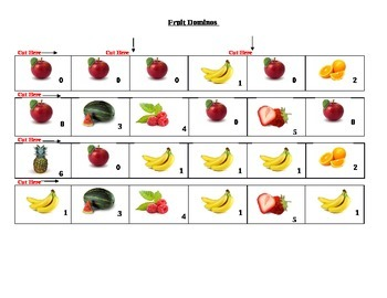 Fruit Dominos Game
