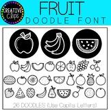 Fruit Doodle FONT {Creative Clips Clipart}