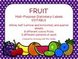 Fruit EDITABLE Parent Letter, Announcement, Newsletter, St