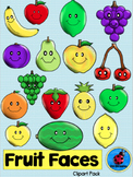 Clipart: Fruit Faces Pack
