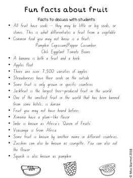 Fruit Facts and Find-A-Word