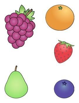 File Folder Game--Matching Fruit