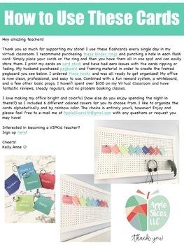 Fruit Flashcards for VIPKid & Virtual ESL Classroom - Classroom Props