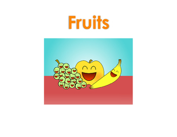 Fruit Flash Cards with Big Images