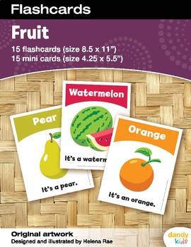 Fruit Flashcards / Set of 15 / Printable