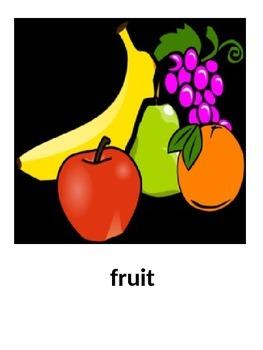 Fruit Flashcards in English