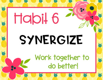 Fruit & Floral 7 and 8 Habits Posters-Classroom Theme Decor