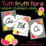Fruit & Floral Classroom Theme Cursive Alphabet Posters