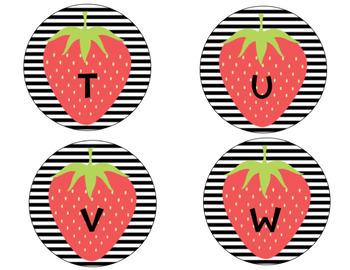 Fruit & Floral EDITABLE Book Bin Labels- Classroom Theme Decor
